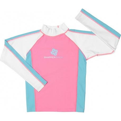 UV shirt & short Pink Aqua (lange mouw)