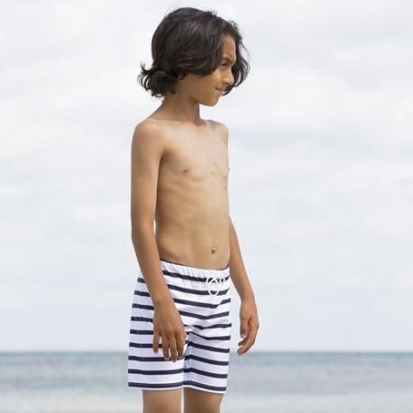 Jongens Zwembroek Wit Blauw gestreept