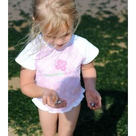 UV shirt & short Pale pink sparkle