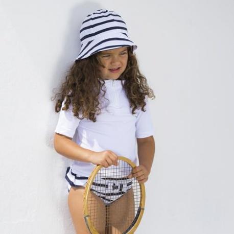 UV Shirt Wit met korte rits