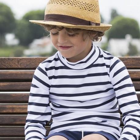 UV Shirt Wit Blauw lange mouw