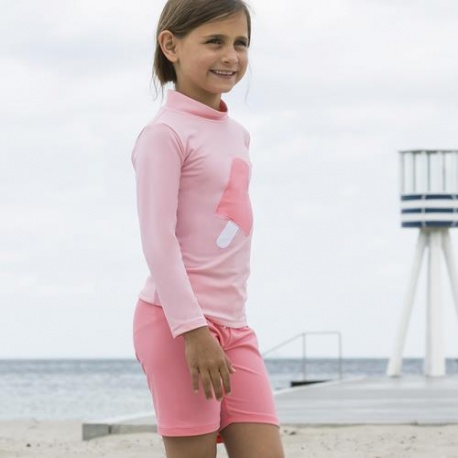 UV Shirt Soft Roze lange mouw | Zwemshirt lange mouw Roze