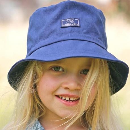 Zonnehoed Blauw | Zonnehoed kind met brede rand