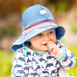 Baby Zonnehoedje met strik | Schattig zonnehoedje baby met nekbescherming