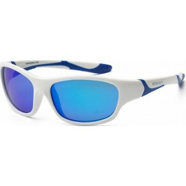 Zonnebril Kind 6-10 jr - White & Blue - Blue Revo - 6-10 years - Koolsun -- SPORT
