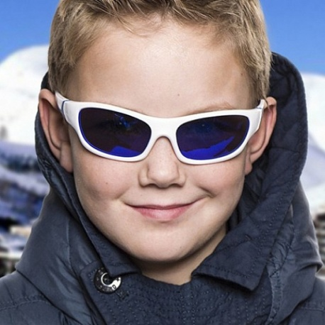 Zonnebril kind - White & Blue - Blue Revo - 3-6 years - Koolsun -- SPORT