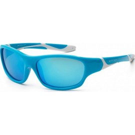 Zonnebril Kind - Aqua & White - Ice Blue Revo - 6-10 years -Koolsun - SPORT