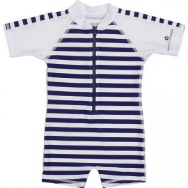 UV baby badpak Navy White stripes