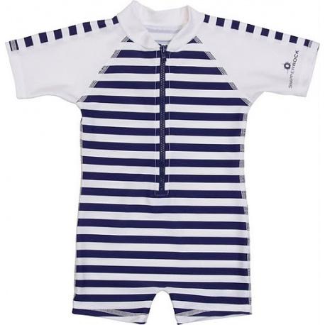 UV baby badpak Navy White stripes