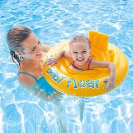 Baby zwemzitje Intex geel rond