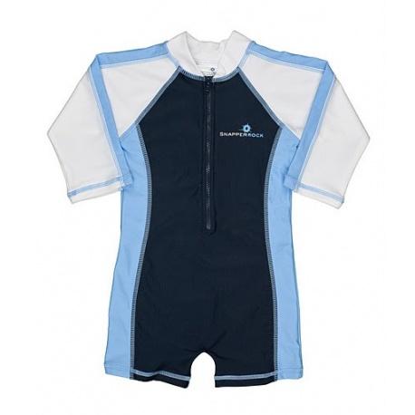 UV baby badpak Navy and light blue (lange mouw)