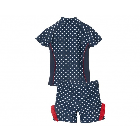 UV shirt en zwemshort Hartjes