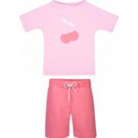 UV Shirt Ballerina (cherry) + Zwemshort Watermellon