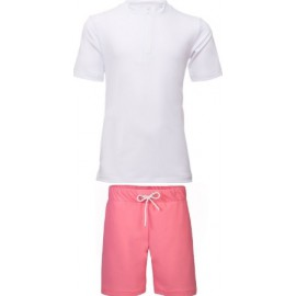 UV shirt White + Zwemshort Watermellon