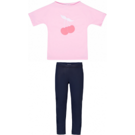 UV Shirt Ballerina (Cherries) + Legging Blauw