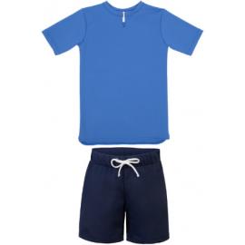 UV Shirt Saffierblauw + Zwembroek blauw