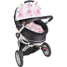 Dooky - UV bescherming voor kinderwagens en meer - Pink Cirles