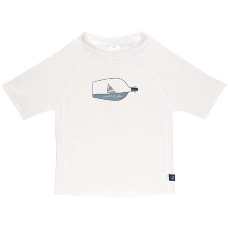 UV shirt Ship in a bottle - White