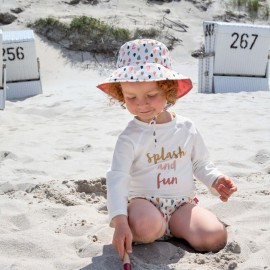 UV shirt Splash & Fun - lange mouw - White Pink