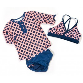 UV shirt en zwemshort Purple Dots