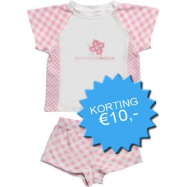 UV shirt & short Pink Check