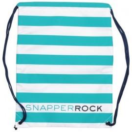 Zwemtas Aqua/White stripe