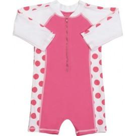 UV baby badpak Hot Pink dots (lange mouw)