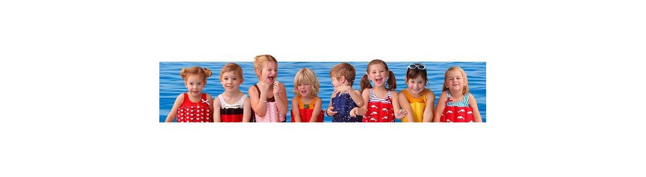 UV beschermende kleding voor jongens en meisjes, nu ook drijfpakjes!